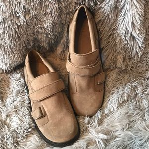 Mia tan suede NWOT slip on shoes